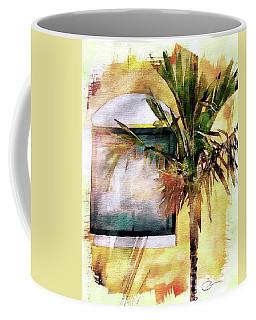 Palm And Window Coffee Mug by Robert Smith