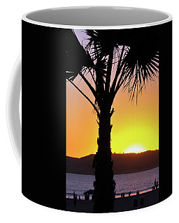 Coffee Mug featuring the photograph Palm At Sunset by Howard Bagley