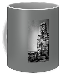Palm Beach Clock Tower In Black And White Coffee Mug