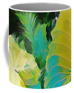 Coffee Mug featuring the painting Palm Branches by Mindy Newman