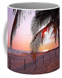 Palm Collection - Sunset Coffee Mug by Victor K