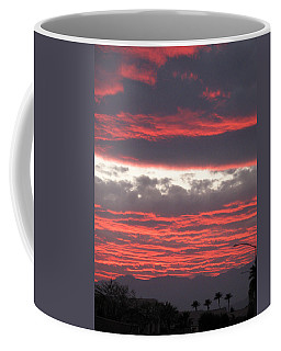Coffee Mug featuring the photograph Palm Desert Sunset by Phyllis Kaltenbach