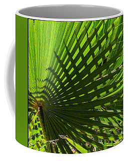 Coffee Mug featuring the photograph Palm Pattern No.1 by Mark Myhaver