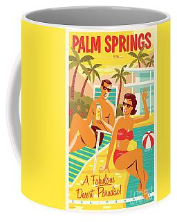 Palm Springs Poster - Retro Travel Coffee Mug