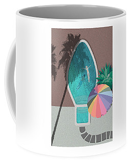 Palm Springs Xmas Bulb Pool Coffee Mug