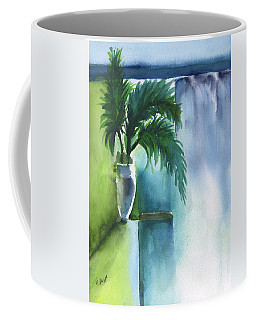 Coffee Mug featuring the painting Palm Still Life Abstract by Frank Bright