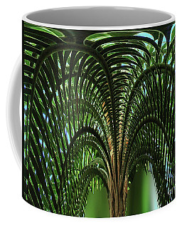 Palm Tree Fractal Nature Art Coffee Mug by Carol F Austin