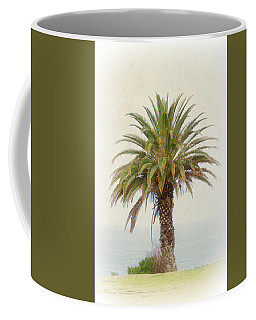 Palm Tree In Coastal California In A Retro Style Coffee Mug