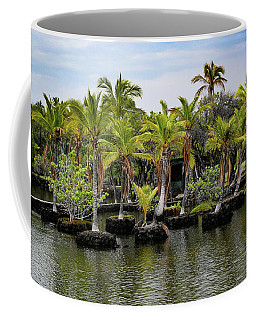 Coffee Mug featuring the photograph Palm Tree Islands by Pamela Walton