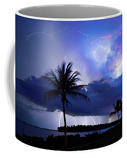 Palm Tree Nights Coffee Mug by Quinn Sedam