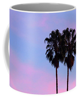 Palm Trees Silhouette At Sunset Coffee Mug