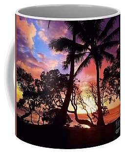 Palm Tree Silhouette Coffee Mug by Kristine Merc