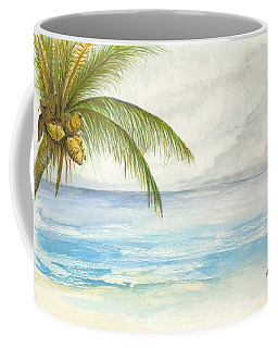 Coffee Mug featuring the digital art Palm Tree Study by Darren Cannell
