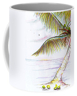 Coffee Mug featuring the digital art Palm Tree Study Three by Darren Cannell