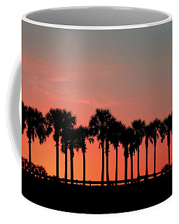 Coffee Mug featuring the photograph Palm Tree Sunset by Joel Witmeyer