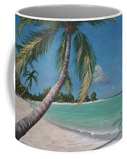 Palm Trees And Beach By Alan Zawacki Coffee Mug