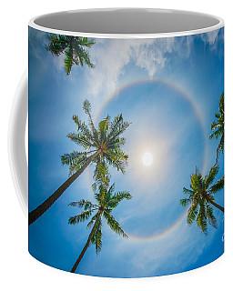 Palm Trees And Sun Halo Coffee Mug