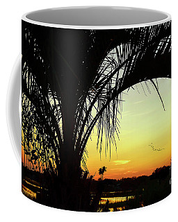 Palm Trees And Sunset Coffee Mug