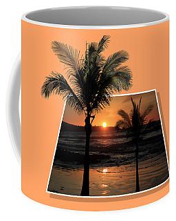 Palm Trees At Sunset Coffee Mug