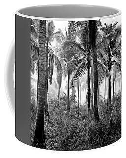 Palm Trees - Black And White Coffee Mug
