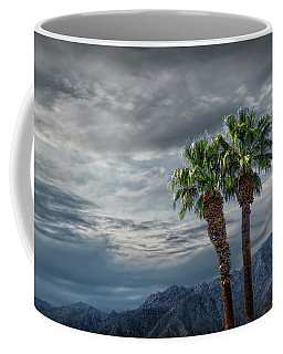 Coffee Mug featuring the photograph Palm Trees By Borrego Springs In The Anza-borrego Desert State Park by Randall Nyhof