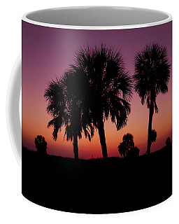 Coffee Mug featuring the photograph Palm Trees Silhouette by Joel Witmeyer