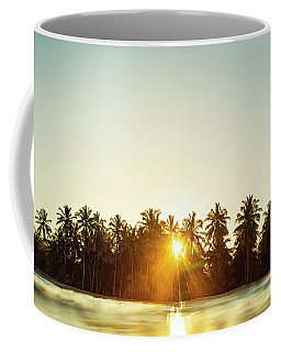Palms And Rays Coffee Mug