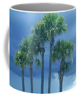 Palmy Skies Coffee Mug by Rachel Hannah