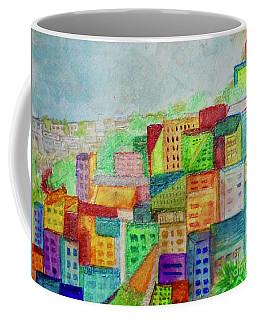 Coffee Mug featuring the painting Palmyra by Kim Nelson