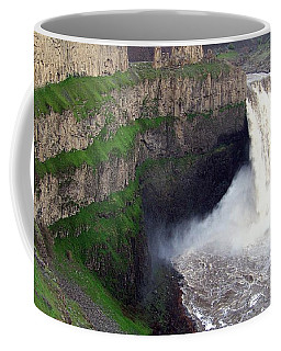 Coffee Mug featuring the photograph Palouse Falls - The Official Washington State Waterfall by Charles Robinson