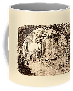 Pan Looking Upon Ruins Coffee Mug