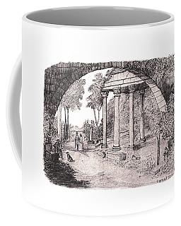 Pan Watching Ruins Of The Past Coffee Mug
