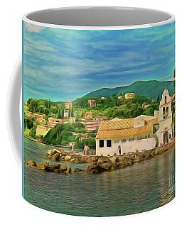 Coffee Mug featuring the photograph Panagia Vlacherna Church - Pontikonisi - Corfu by Leigh Kemp