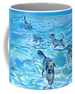 Coffee Mug featuring the painting Panama. Salted Dogs by Anna  Duyunova