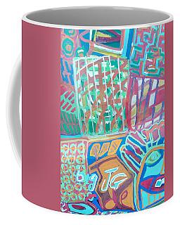 Panel Of Hand Painted Mondeo Coffee Mug by Mudiama Kammoh