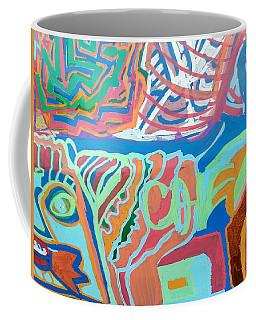 Panel On Hand Painted Ford Mondeo Coffee Mug by Mudiama Kammoh