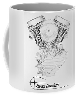 Panhead Harley Engine Coffee Mug