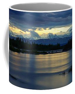 Pano Alaska Midnight Sunset Coffee Mug
