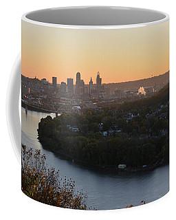 Pano Cincinnati And River Dawn Coffee Mug