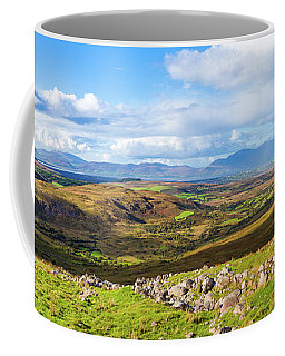 Coffee Mug featuring the photograph Panorama Of A Colourful Undulating Irish Landscape In Kerry by Semmick Photo