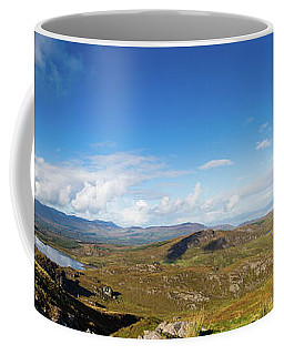 Coffee Mug featuring the photograph Panorama Of Ballycullane And Lough Acoose In Ireland by Semmick Photo