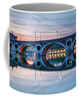 Coffee Mug featuring the photograph Panorama Of Pont Neuf In Toulouse by Elena Elisseeva