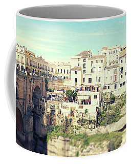 Coffee Mug featuring the photograph panorama of  Rondo in Spain by Ariadna De Raadt