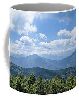 Coffee Mug featuring the photograph Panorama Of The Foothills Of The Pyrenees In Biert by Semmick Photo