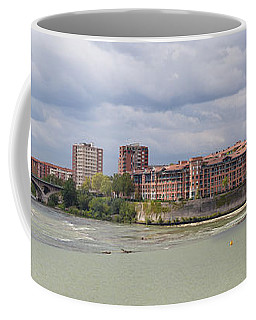 Coffee Mug featuring the photograph Panorama Of The Hydroelectric Power Station In Toulouse by Semmick Photo