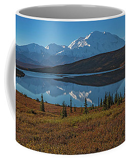 Panorama Of Wonder Lake In Denali National Park Coffee Mug