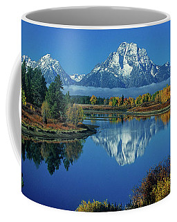Coffee Mug featuring the photograph Panorama Oxbow Bend Grand Tetons National Park Wyoming by Dave Welling