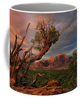 Coffee Mug featuring the photograph Panorama Storm Back Of Zion Near Hurricane Utah by Dave Welling