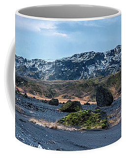 Panorama View Of An Icelandic Mountain Range Coffee Mug by Joe Belanger