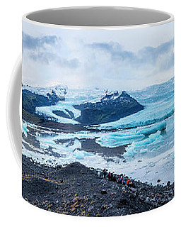 Panorama View Of Icland's Secret Lagoon Coffee Mug by Joe Belanger